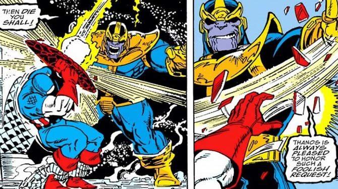 thanos scudo capitan america avengers endgame fumetti