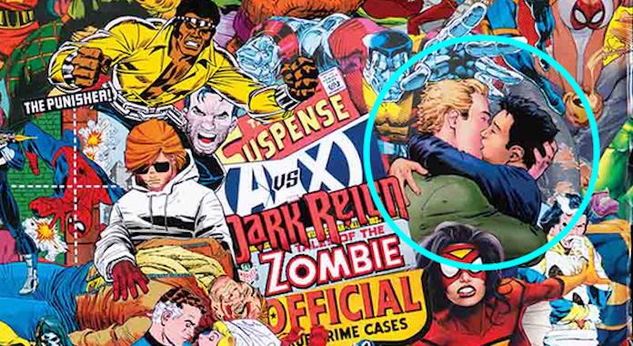 2 personaggi DC Comics si baciano su una copertina Marvel - Fumettologica
