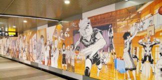 murale manga shibuya stazione