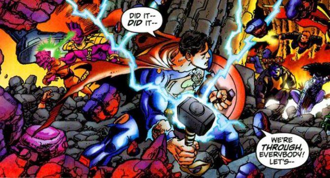 superman Mjolnir martello thor