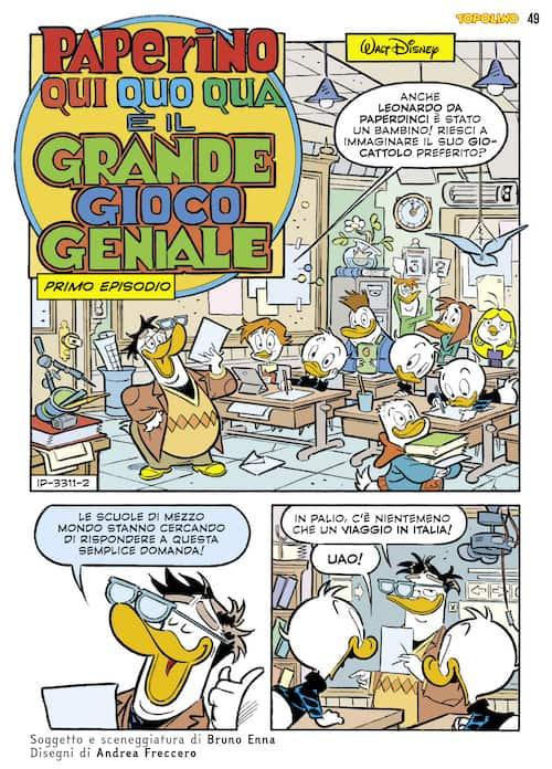 """Il fumetto di """"Topolino"""" su Leonardo da Vinci - Fumettologica"""