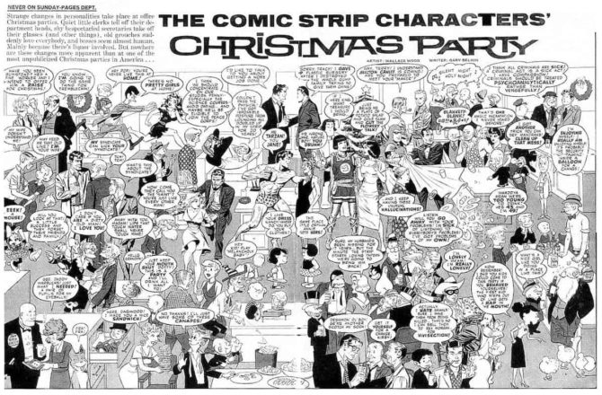 wally wood christmas party mad magazine
