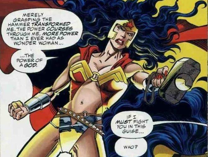 wonder woman Mjolnir martello thor