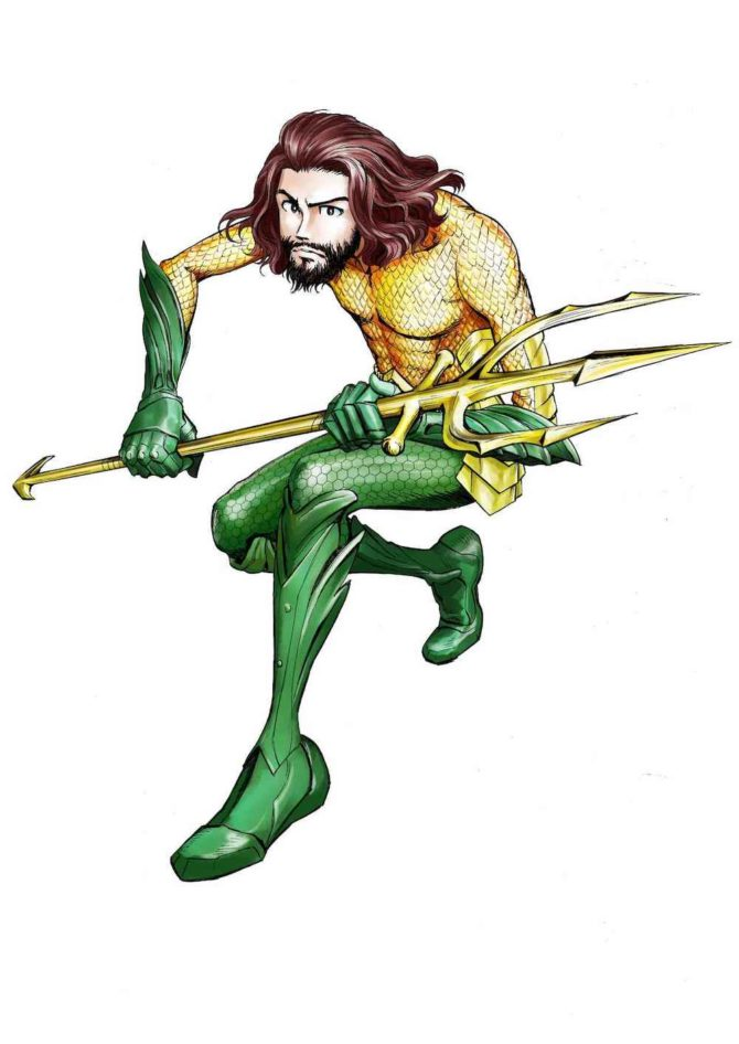 aquaman monkey punch dc comics