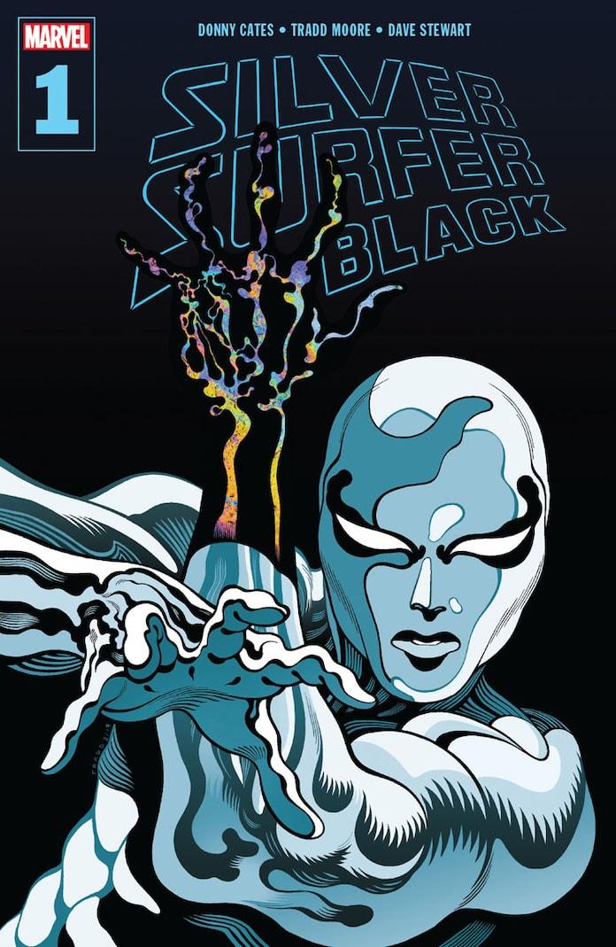 silver surfer black marvel anteprima