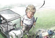 Michael De Adder vignetta Donald Trump