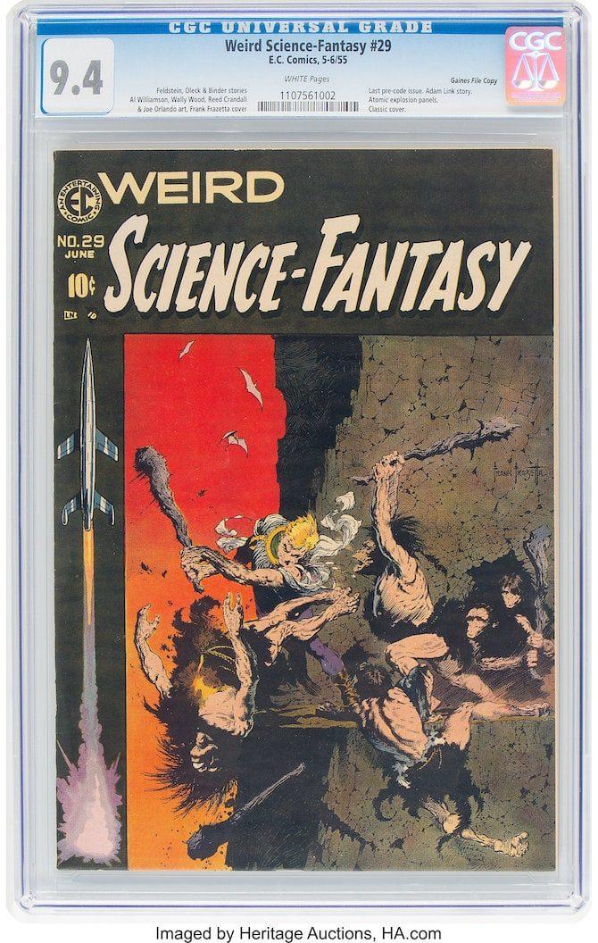asta fantascienza Glynn Crain weird science fantasy