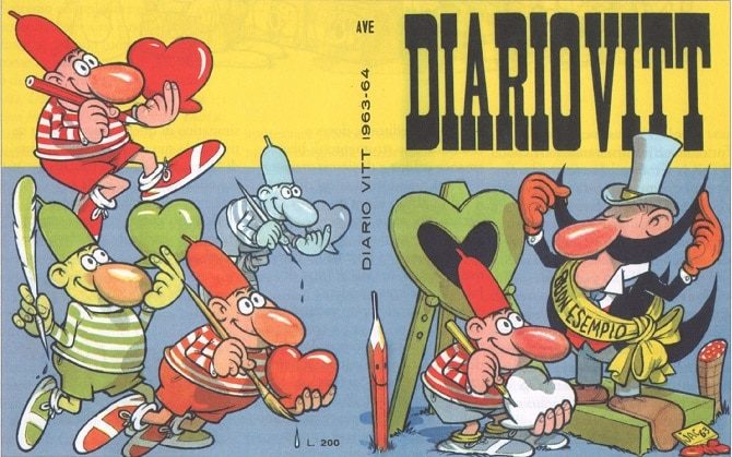 diari fumetti diario vitt benito jacovitti