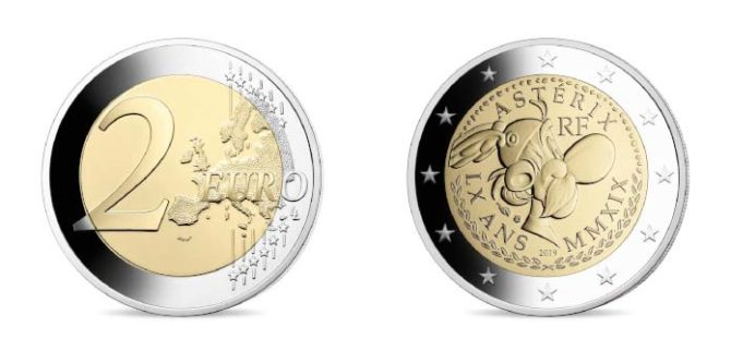 asterix 60 2 euro