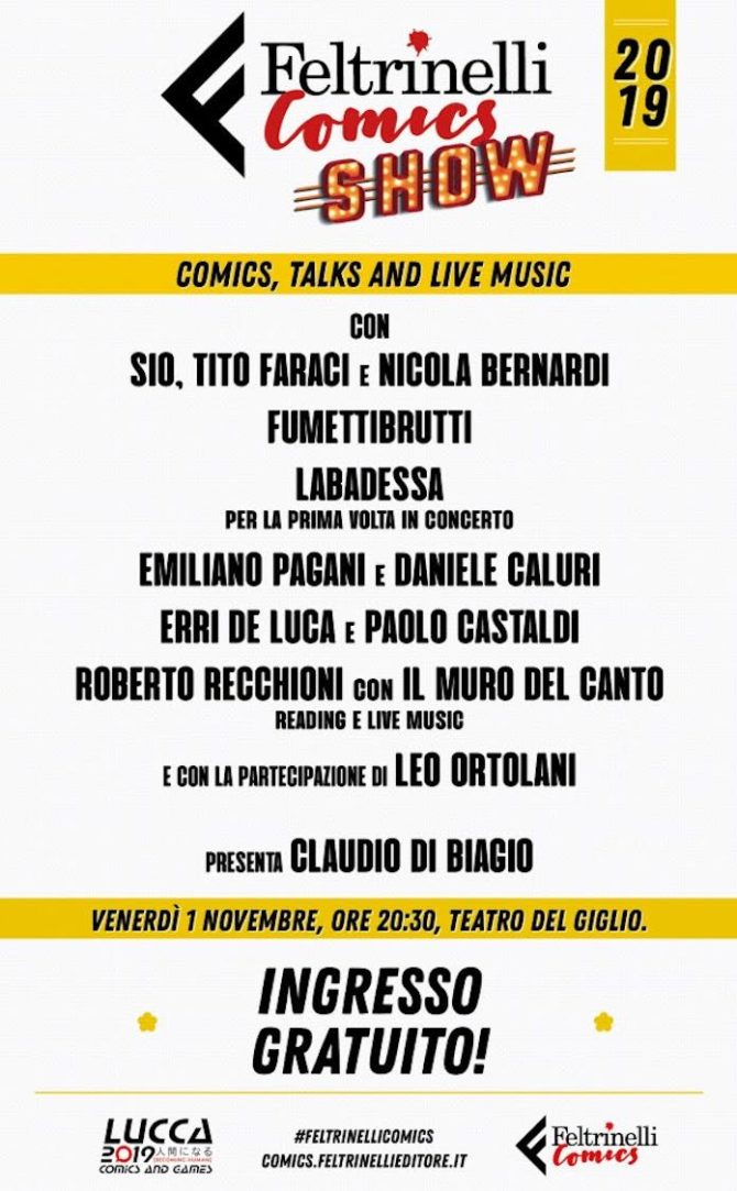 feltrinelli comics show 2019 lucca comics