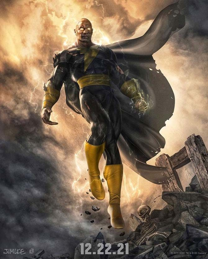 data black adam film the rock