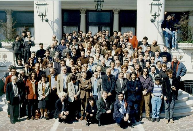 La redazione allargata di Topolino nel 1998