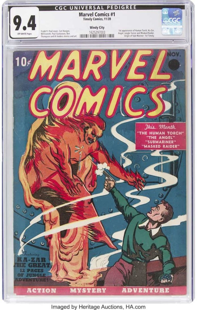 marvel comics 1 asta record fumetti