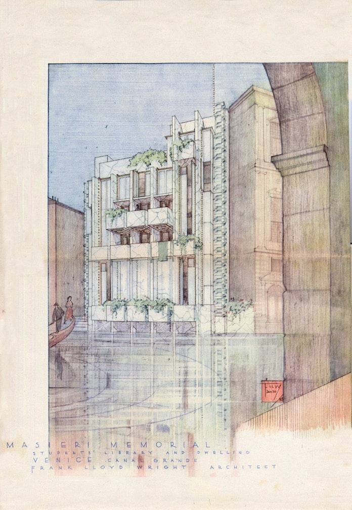 Frank Lloyd Wright Casa sul Canal Grande