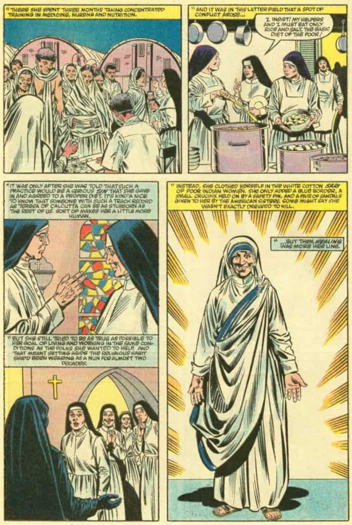 Mother Teresa of Calcutta comics fumetti natale