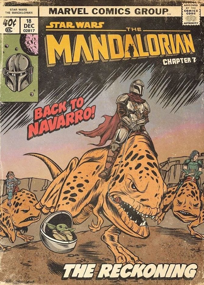 mandalorian fumetto vintage