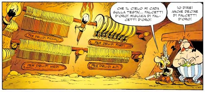 asterix falcetto d'oro