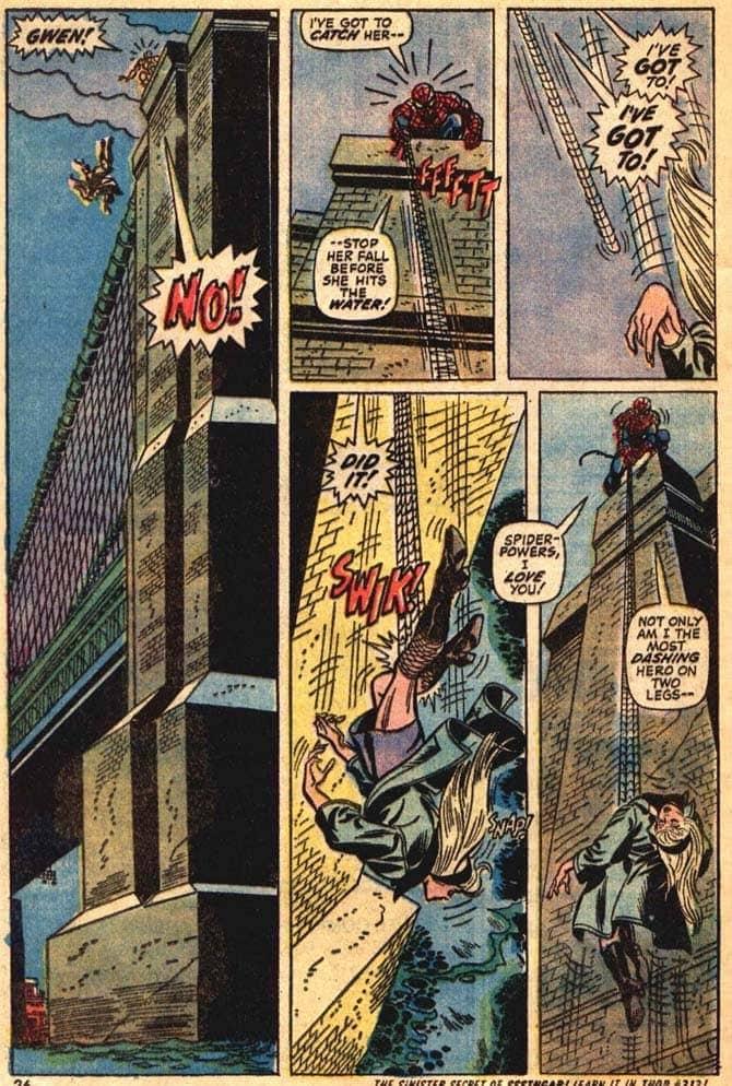morte gwen stacy spider-man john romita