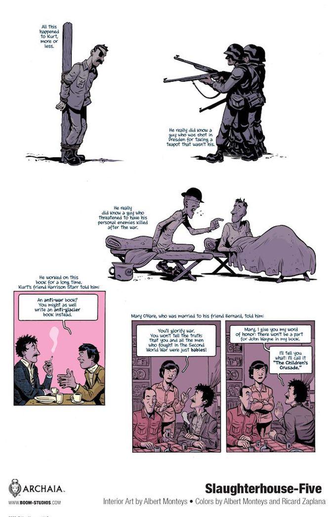 Mattatoio 5 fumetto vonnegut