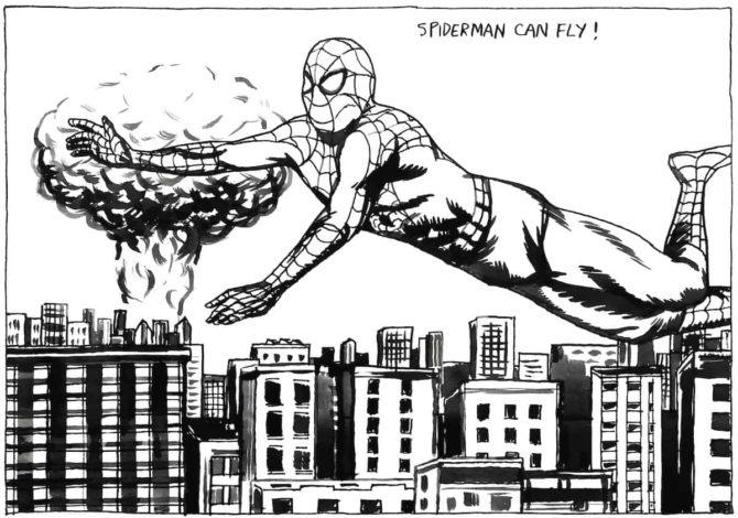 raymond pettibon spider-man