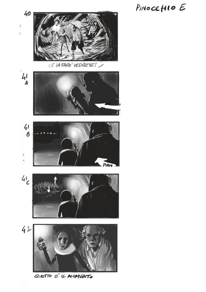 pinocchio matteo garrone film storyboard