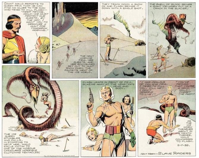 flash gordon fumetti sci