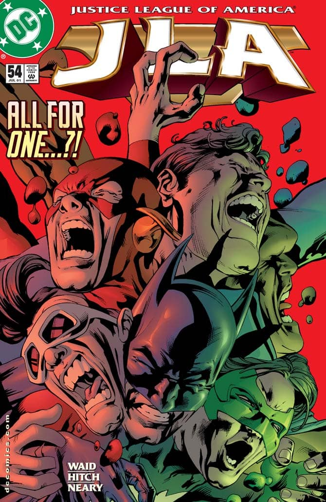 divisi cadiamo justice league fumetti