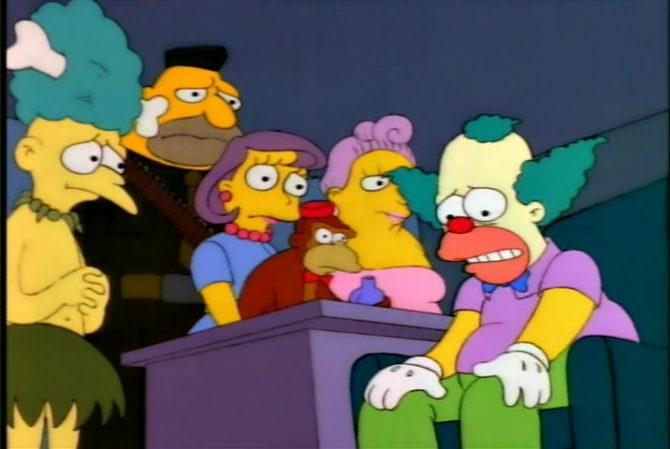 lo show di krusty viene cancellato