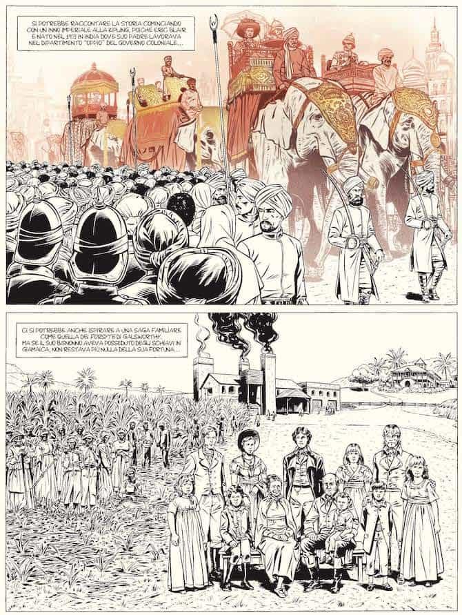 orwell biografia fumetti ippocampo