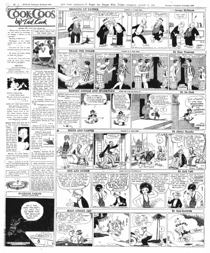 La pagina delle strisce del New York American del 12 agosto 1926