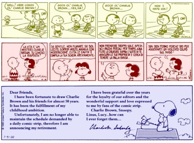 Peanuts tavola domenicale