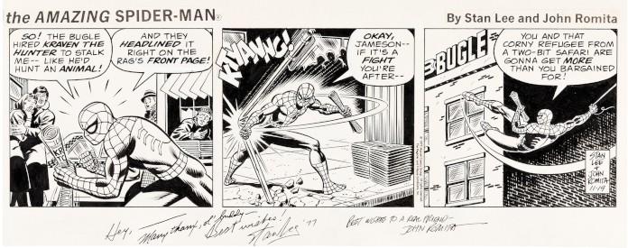 Spider-Man strisce fumetti