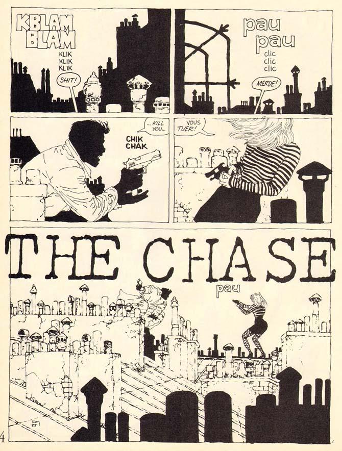 frank miller fumetti sconosciuti the chase
