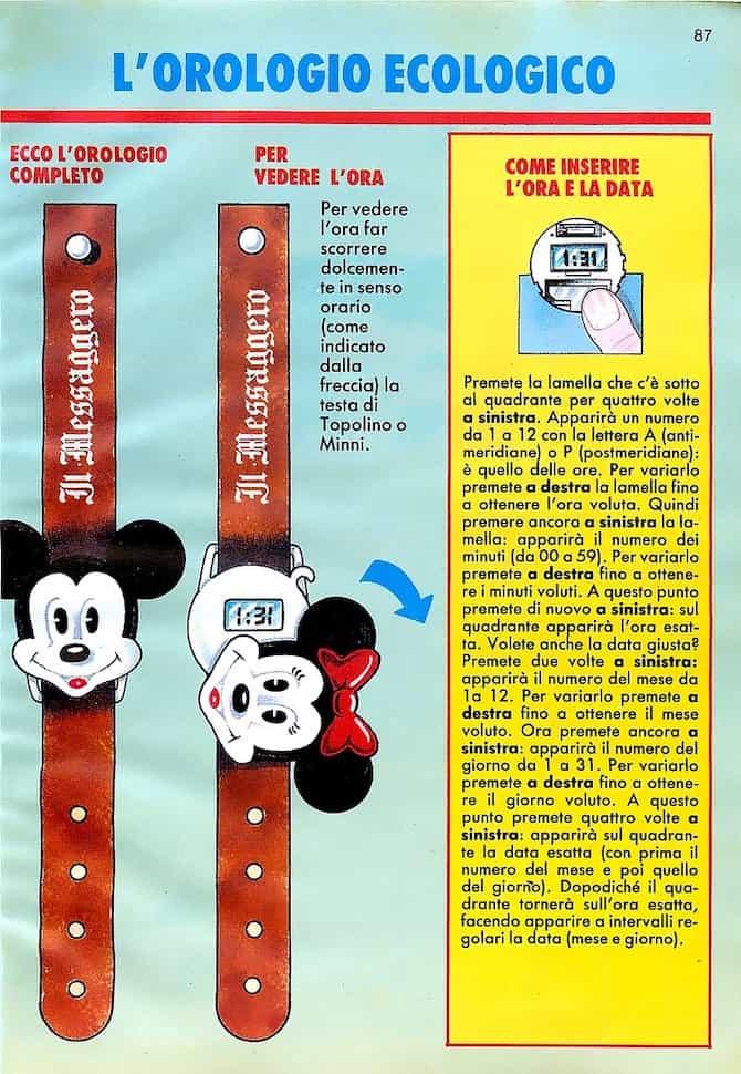 orologio topolino