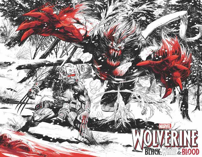 wolverine Black White Blood marvel