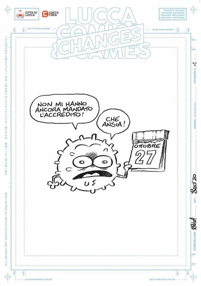 mostra poster lucca comics 2020