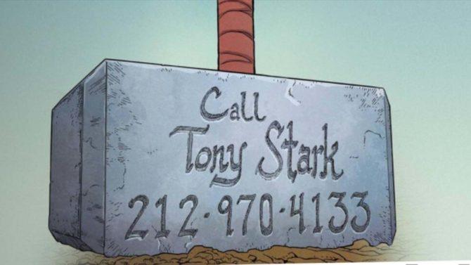 tony stark numero telefono thor
