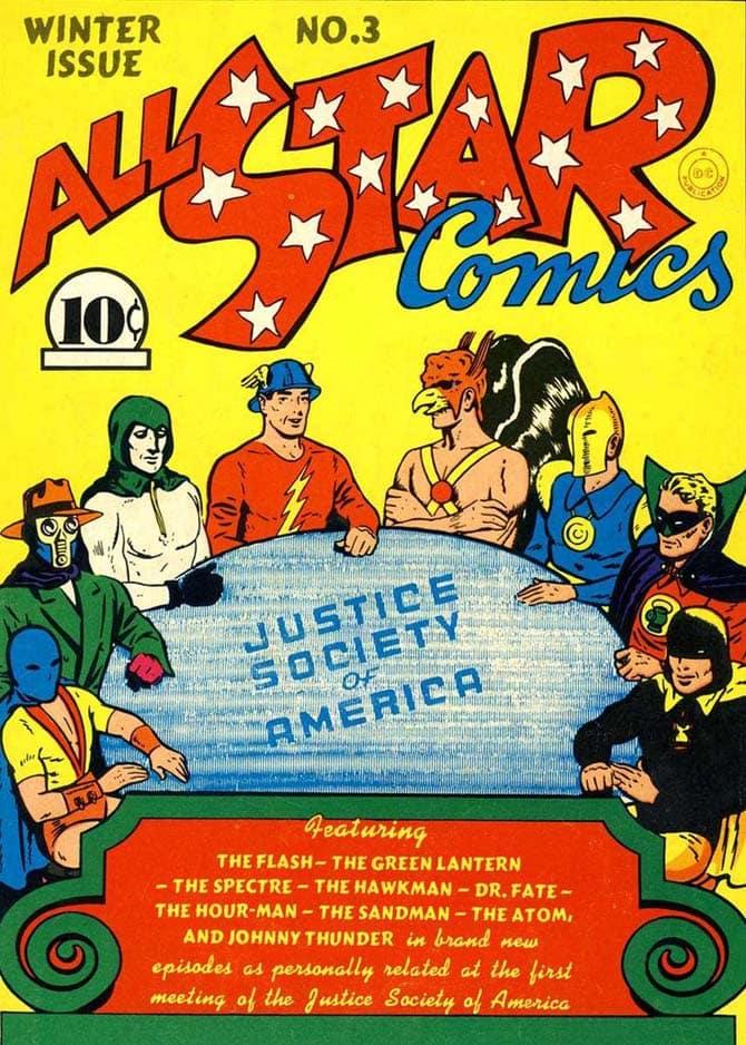 continuity fumetti justice society of america