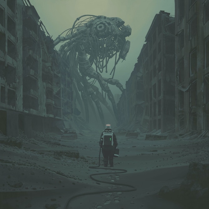 Labyrinth Simon Stalenhag