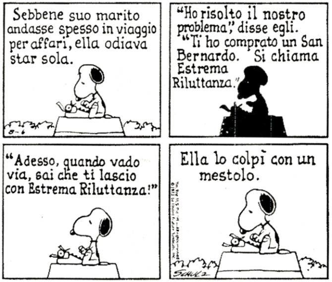 snoopy notte buia tempestosa