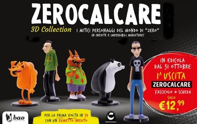 statuette 3D zerocalcare