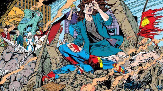 morte di superman errore di stampa