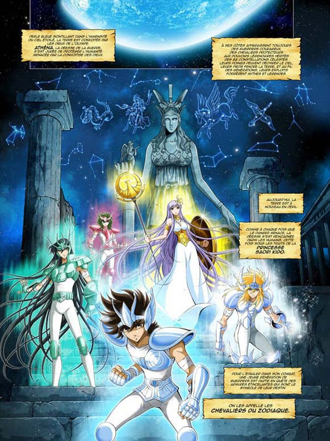 cavalieri dello zodiaco autori francesi