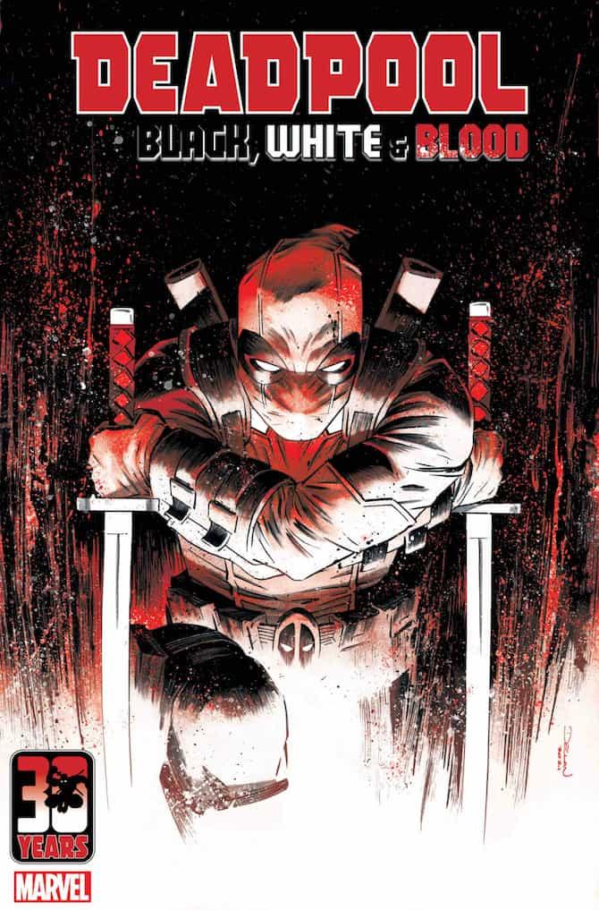 Deadpool Black White Blood marvel