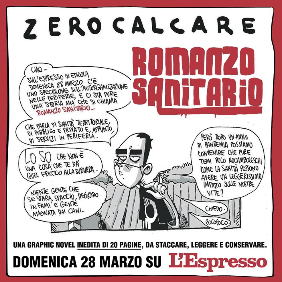 zerocalcare romanzo sanitario espresso