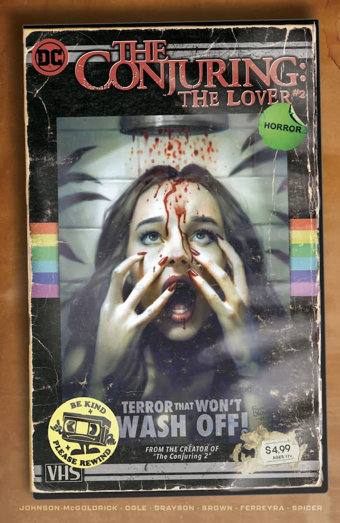 The Conjuring: The Lover #1 variant cover by Ryan Brown dc comics horror