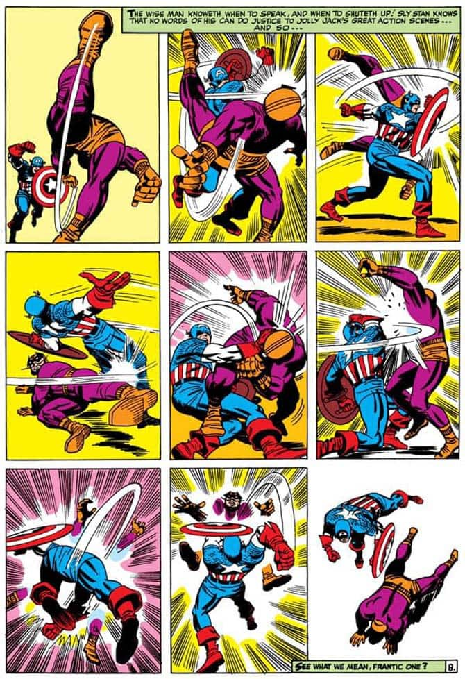 capitan america kirby lotta supereroi fumetti
