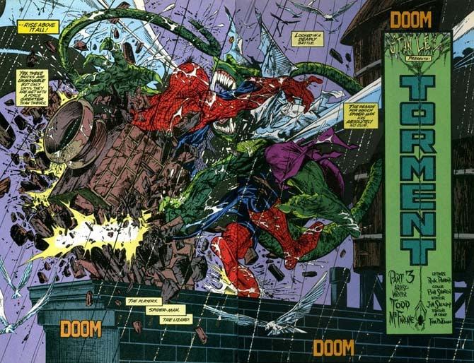 spider-man lizard todd mcfarlane lotta supereroi fumetti