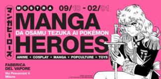 manga heroes mostra milano